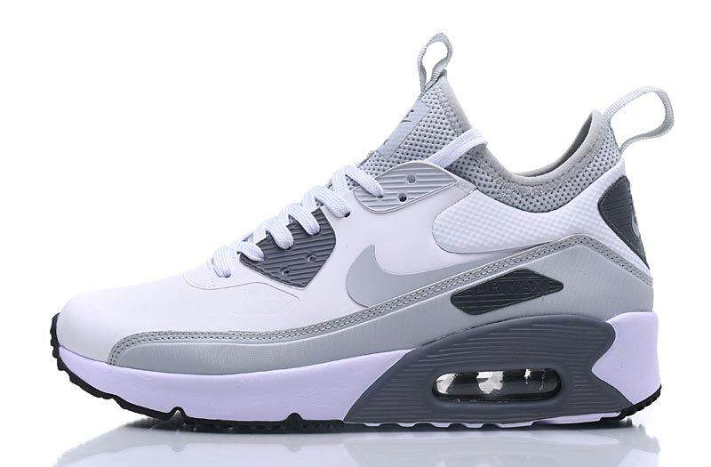 Nike Air Max 90 Ultra Mid Winter Men s Running Sneaker Shoes Fashion Sport  Shoes (White a14e14d607