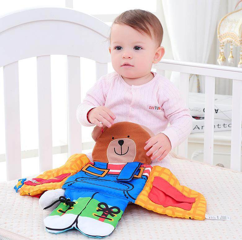 Baby Activity Cloth Book Multi-functional Infant Bear Soft Toys