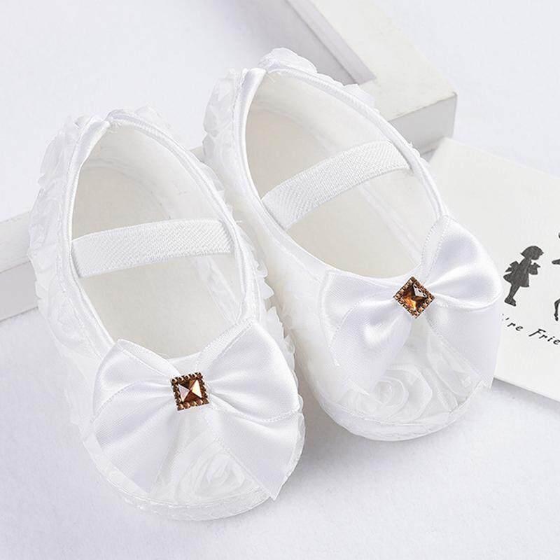 ❤️Cutiebaby Bé Sơ Sinh Trẻ Sơ Sinh Cho Bé Đáng Yêu của Hoa Nơ Prewalkers Mũi Tròn Giày