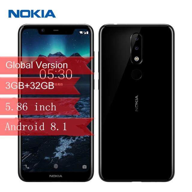 [In stock !] ORIGINAL Global Version  Nokia X5 4G Phablet  5.86 inch Android 8.1 Helio P60 Octa Core 3GB RAM 32GB ROM 13.0MP + 5.0MP Rear Camera Fingerprint Sensor 3060m