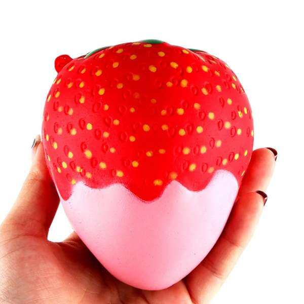 Grubbstore-Pink Strawberry Sauce Scented Squishy Slow Rising Squeeze Toys Jumbo Collection