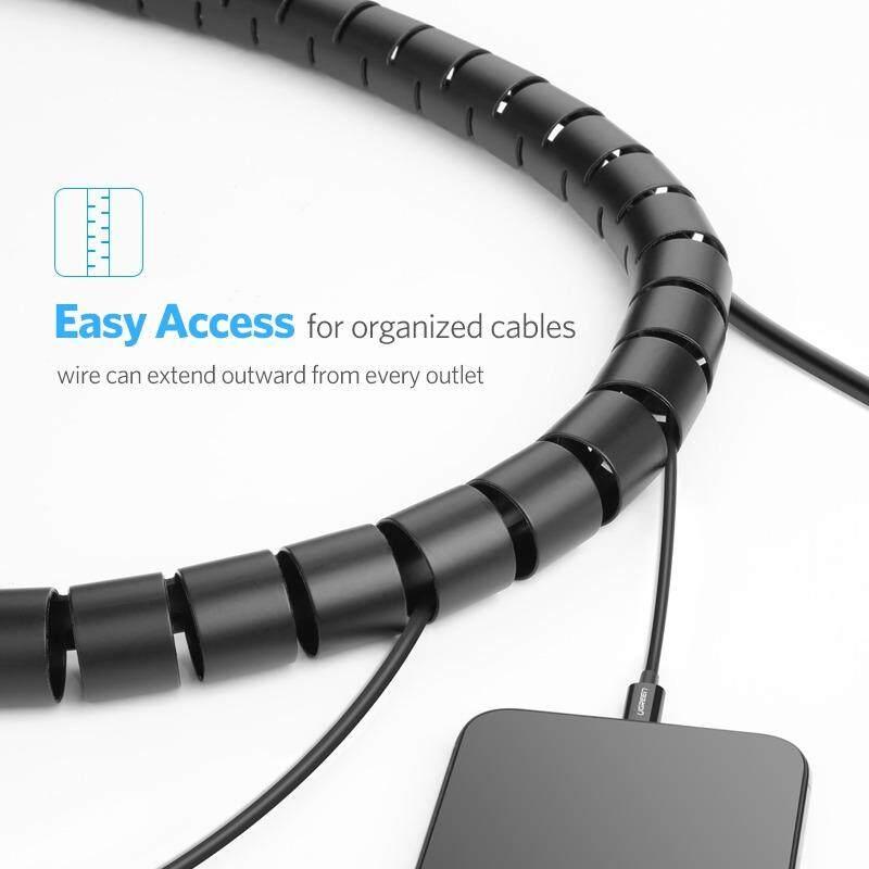 UGREEN 3Meter Cable Holder Organizer 25mm Diameter Flexible Spiral ...