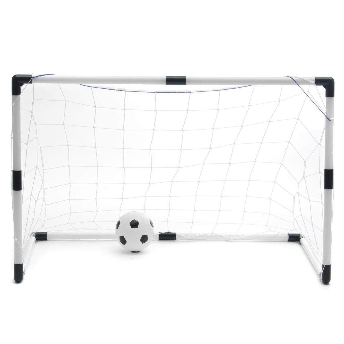 2 Mini Football Soccer Goal Post Net + Ball + Pump Kids Outdoor Sport Training