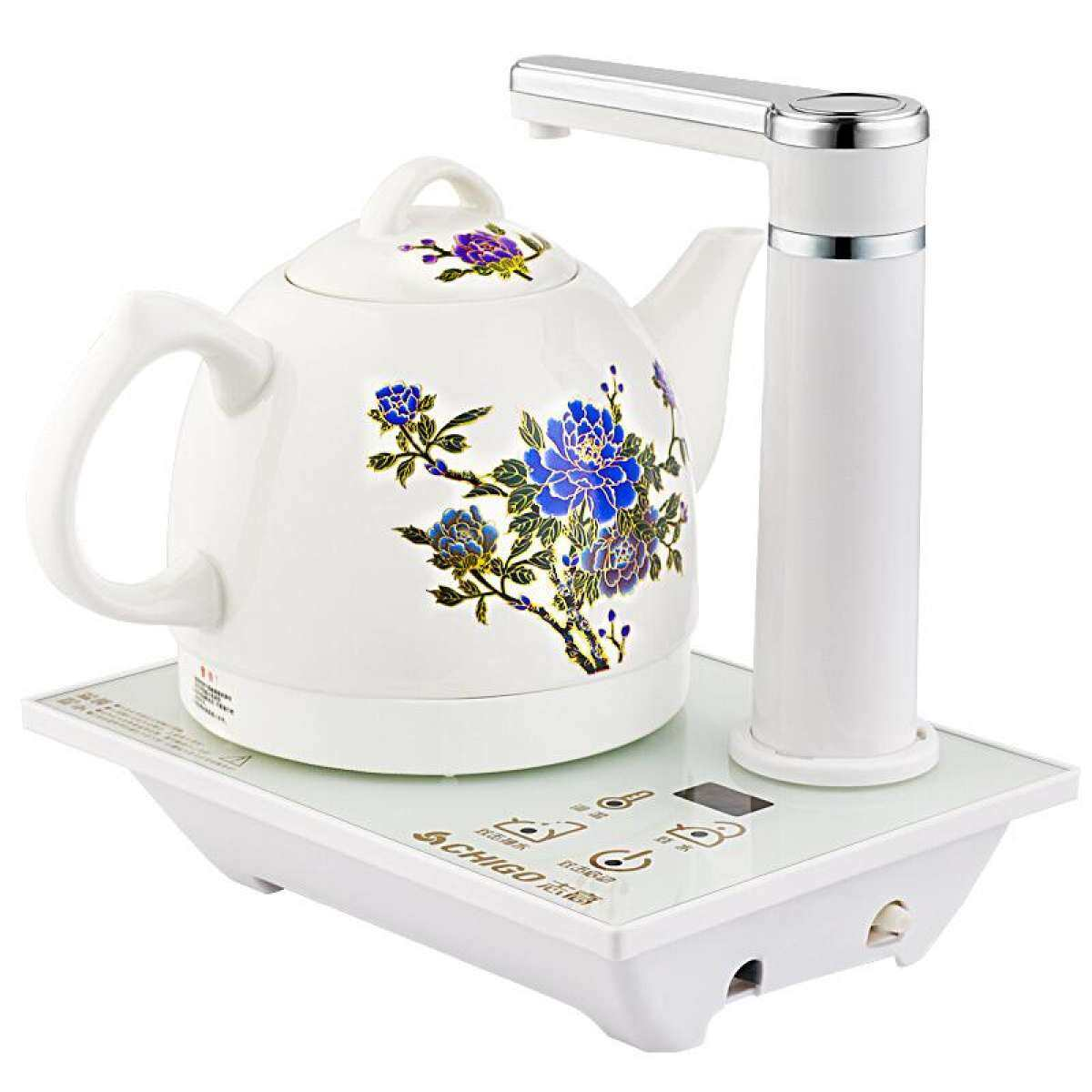 CHIGO D2 Automatic Water Heating Kettle, Ceramic Color Automatic Water Heating Kettle (White)
