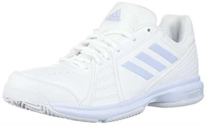 adidas Performance White/Aero Women's Aspire Tennis Shoe, White/Aero Performance Blue/White, 10 M US 3f7d40