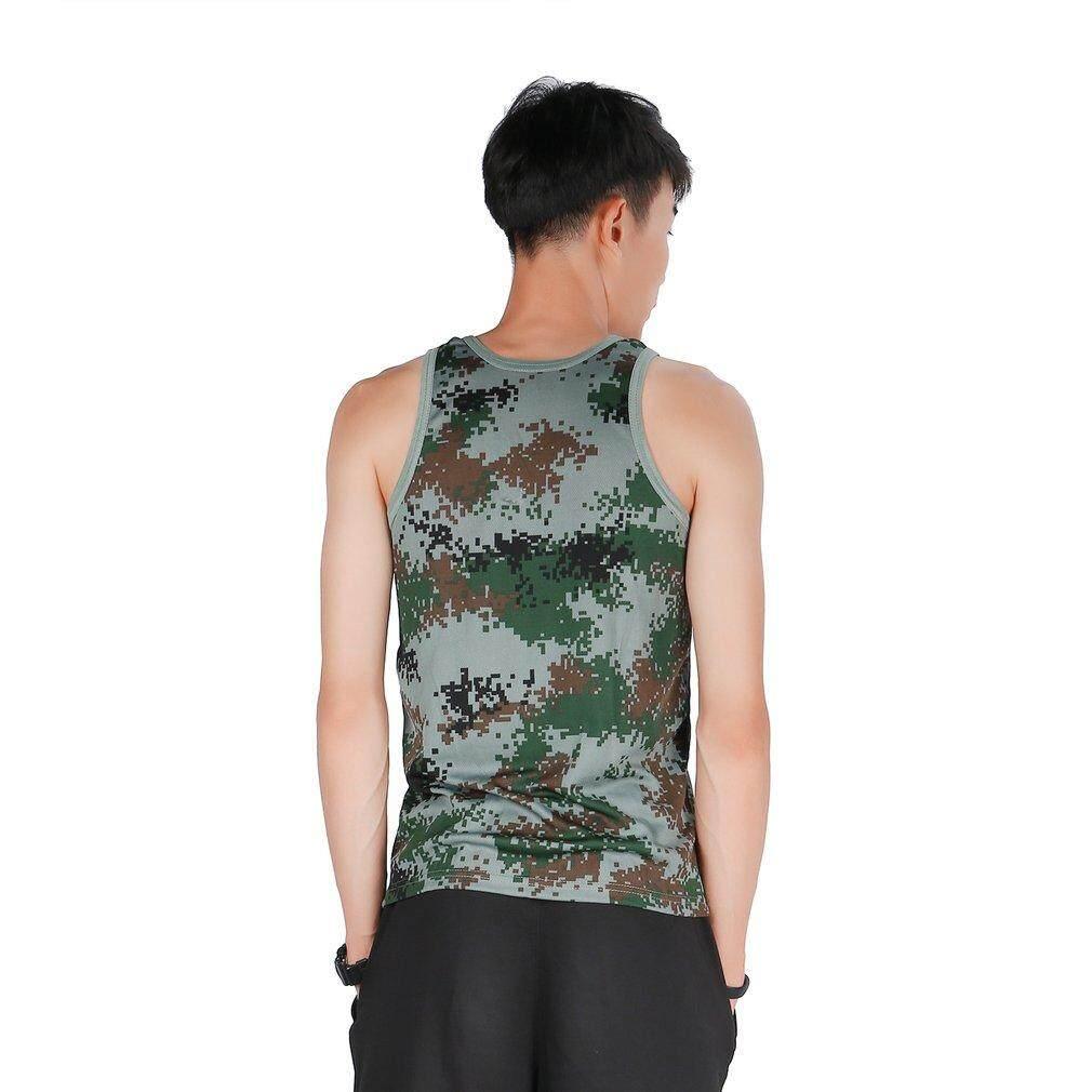 Gosport Fashion Military Style Men Vest Camouflage Tank Top Tight Sport Skinny