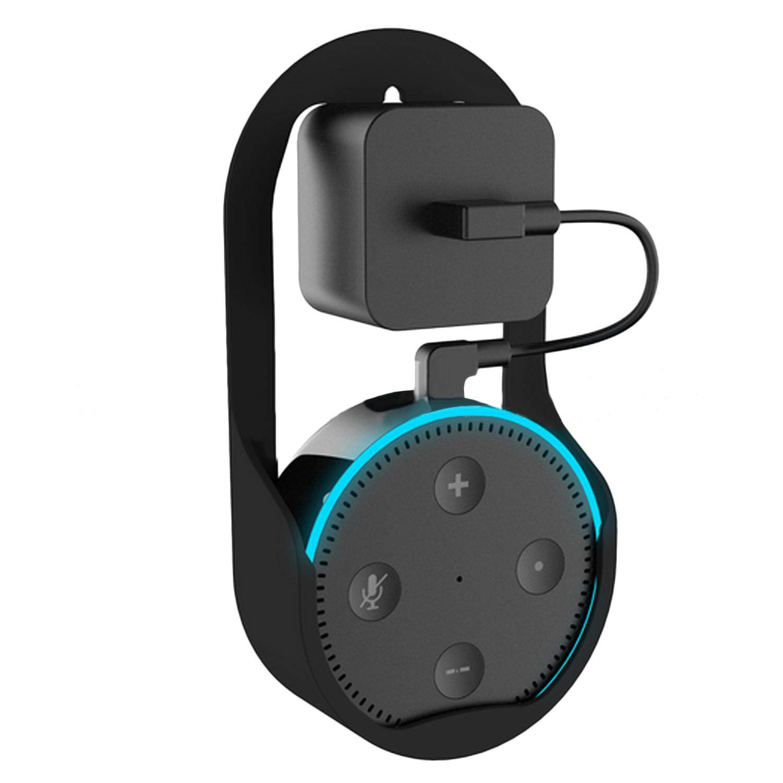 Wall Mount Hanger Stand Holder Case Space-Saving for Amazon Alexa Echo Dot 2