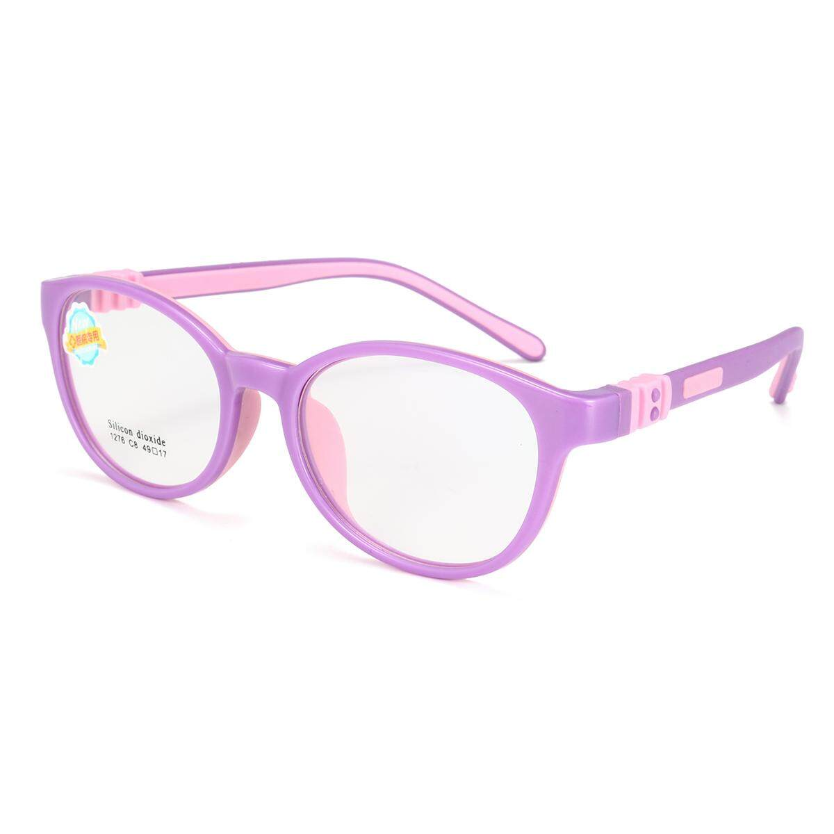 Child's Children Girl Boy Silicone Flexible Eyeglasses Frames Myopia Glasses RX