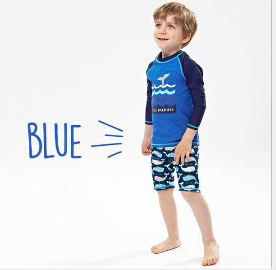 YINGTUOMAN 1Pcs/lot Beach Wear Two Pieces Boys Swimsuit Long Sleeves  Bathing Suits for Children Swimming Suit Little Kids Swim suit - intl |  Lazada Singapore
