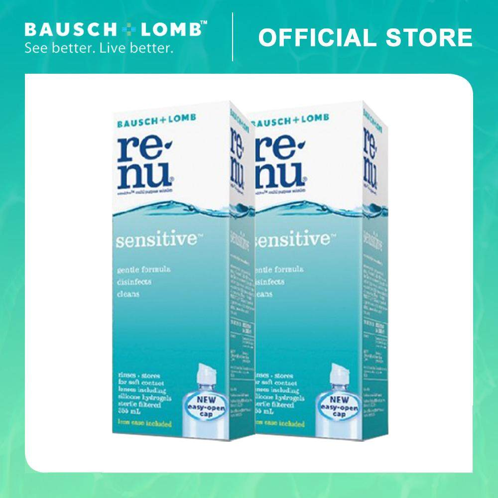 Bausch & Lomb Renu Sensitive 355ml 2-Pack Combo Multi-Purpose Solution (2 Boxes)