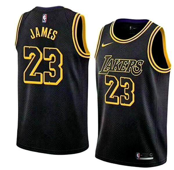 4c5166e80 Black  23 LeBron James Swingman Jersey Men s NBA Los Angeles Lakers Basketball  Clothes Official Authentic