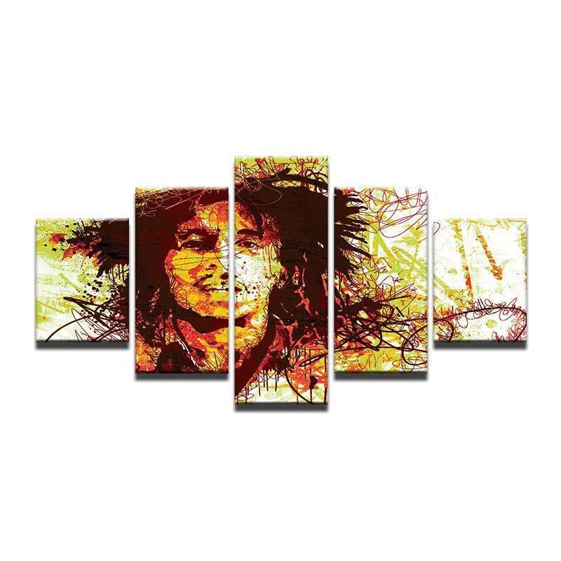 FS 8x14inX2 8x18inX2 8x22inX1 Warna-warni Bob Marley Vintage Retro Poster dan Cetakan Rumah Dekorasi