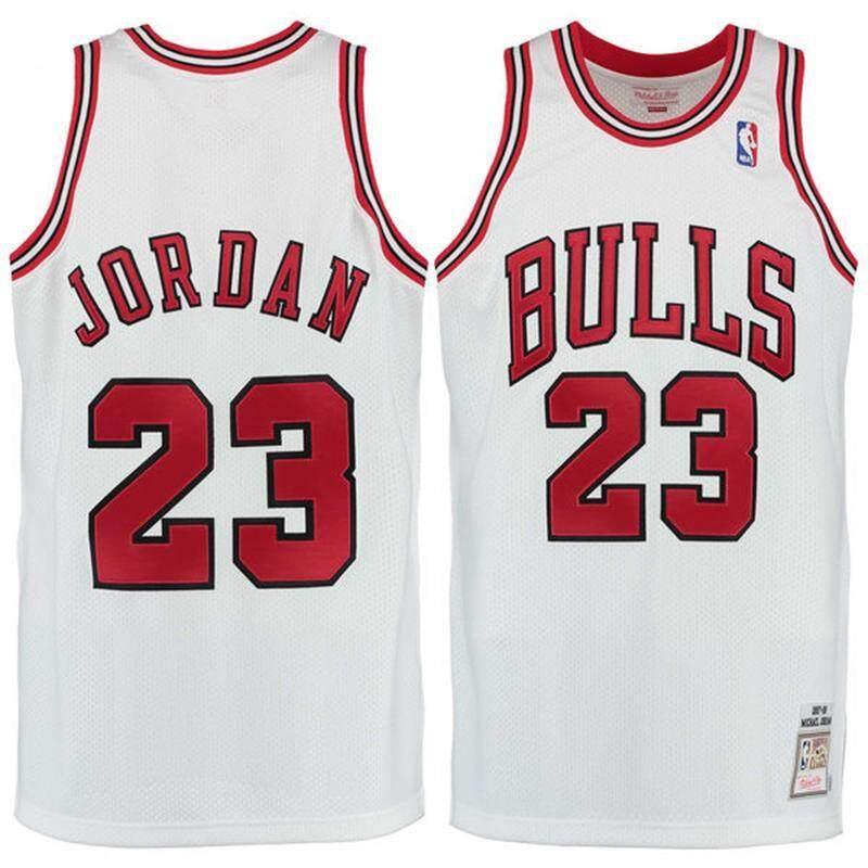 brand new 8abb9 046f4 Original Chicago Bulls Michael_Jordan#23 1997-98 White Global Sales  Official NBA NKE Basketball Jersey MENS Size S-2XL Comfortable Breathable