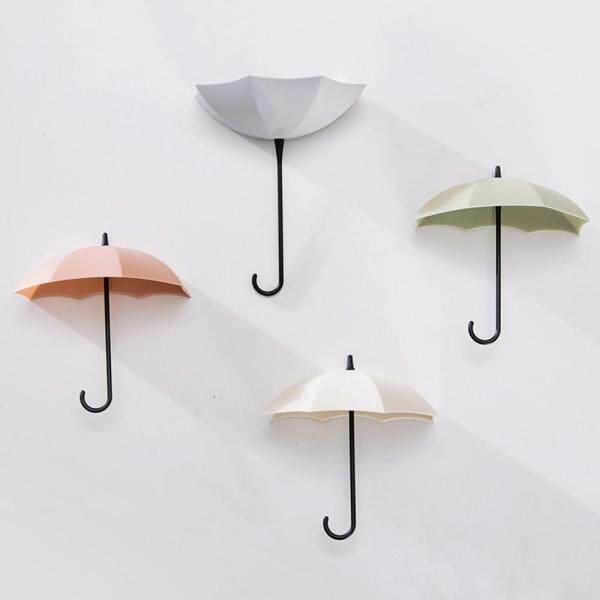 EQxcelllrhy 6pcs Cute Umbrella Wall Mount Key Holder Wall Hook Hanger Organizer Durable