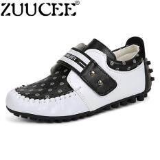 ZUUCEE Bé Trai Slip-On Cho Nữ Giày Trẻ Em Mùa Hè Giày lớp (trắng đen)-quốc tế