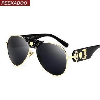 Mens Summer Sunglasses with Leather on Bridge Mirror Lens Retro Black Lens Top Designer Shades High Quality UV400 (Black Leg Black Lens)