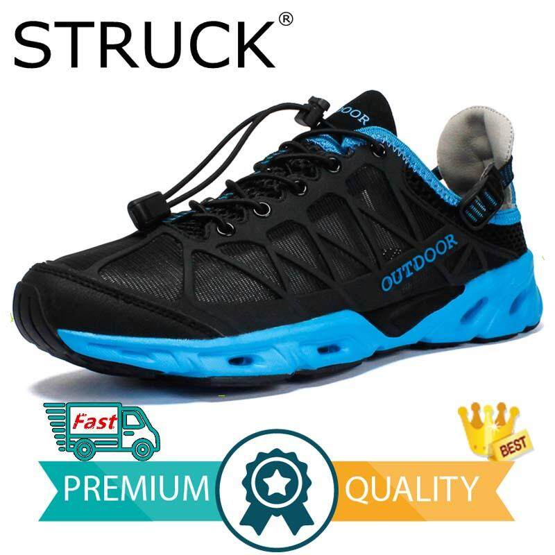 2f0632e3c3d8 STRUCK Aqua Shoes Ultra-light Quick-drying Beach Water River Walking Summer  Men Breathable