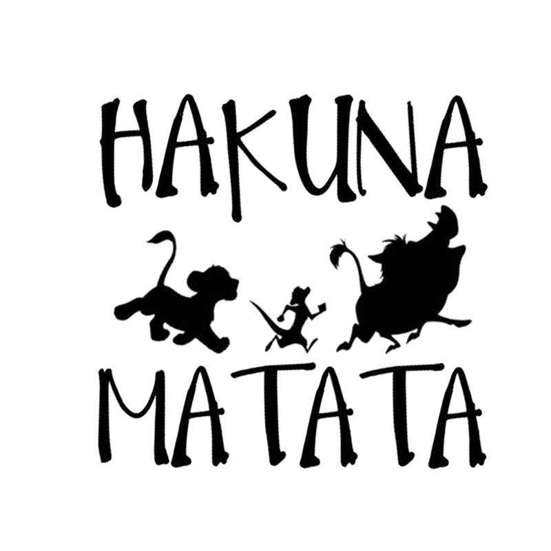 Delicate HAKUNA MATATA Lion King Simba Car-Styling Car Sticker