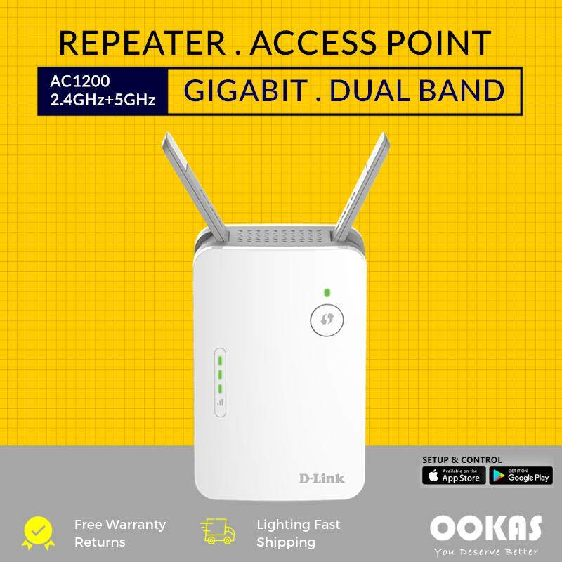 D-LINK Gigabit AC1200 WiFi Range Extender Dual Band 2 4GHz + 5GHz Wireless  Repeater DAP-1620 with Access Point Mode
