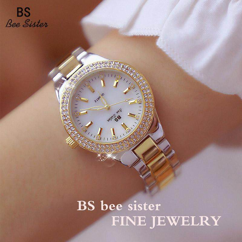 BS beesister New Arrival Hot Sale Fashion Womens Watches Casual  Stainless Steel Alloy Quartz Waterproof Ladies Wristwatches Luxury Elegant Rhinestone Full Diamond Female Watches FA1258 Malaysia