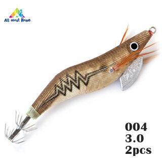 ABH 2 Cái Mồi Tôm Phát Sáng Mồi Tôm Tôm Lures, Mồi Câu Cá Có Lưỡi Câu, Dụng Cụ Câu Cá Cho Mực thumbnail