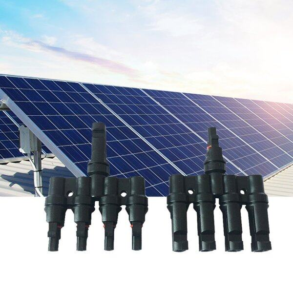 OSMAN Panel Adaptor Solar Photovoltaic Connector T-Type Tee Plug 4 In 1 Out