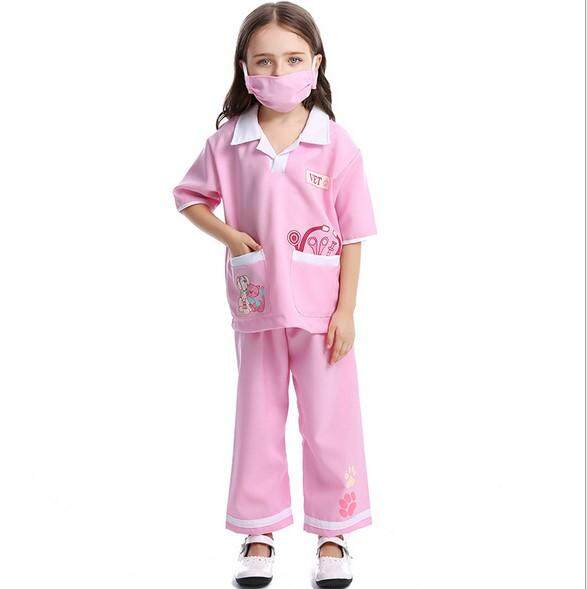 Kids Career Costumes professional Veterinarian clothing Nurse Doctor costumes