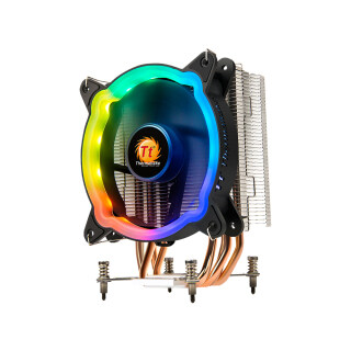 Bộ Làm Mát Không Khí CPU RGB Thermaltake, Quạt PWM 120Mm, Lắp Đặt Khóa 4 Ống Dẫn Nhiệt Tiếp Xúc Trực Tiếp Dành Cho Intel 115X Năng Động Màu RGB thumbnail