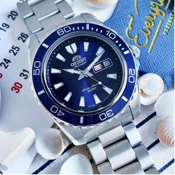 [Original] Orient FEM75002DR Automatic Blue Dial Stainless Steel Bracelet Men Watch Malaysia
