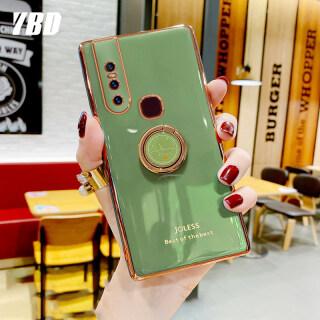 YBD Ốp Bảo Vệ Máy Ảnh Chính Xác Ốp Cho Vivo V15 Pro V15PRO, Ốp Chống Rơi Mạ Phong Cách Nữ Tính Với Giá Đỡ Điện Thoại Đồng Hồ Sáng Tạo thumbnail