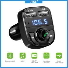 Bộ Phụ Kiện Xe Hơi Bluetooth JTKE X8, Máy Phát FM Rảnh Tay Máy Nghe Nhạc MP3 Bộ Sạc Xe Hơi USB Kép 5V 3.1A 1A Hỗ Trợ Thẻ Micro SD
