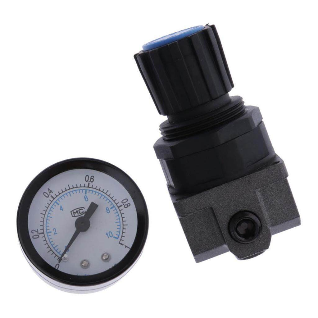 Miracle Shining Plastic Air Pressure Relief Valve Compressor with Pressure Gauge - R200,1/4