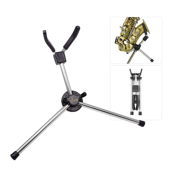 Foldable Soprano Saxophone Stand Portable Sax Metal Floor Stand Holder with Carry Bag Malaysia