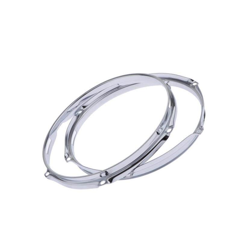 Sunnimix 2 Chiếc Chắc Chắn 6 Chốt Giờ Trống Lắc Giảm Snare Bên Hoop (10 Inch 1.5 Mm)