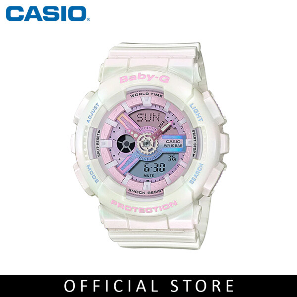 Casio Baby-G BA-110PL-7A1 White Resin Band Women Sports Watch Malaysia