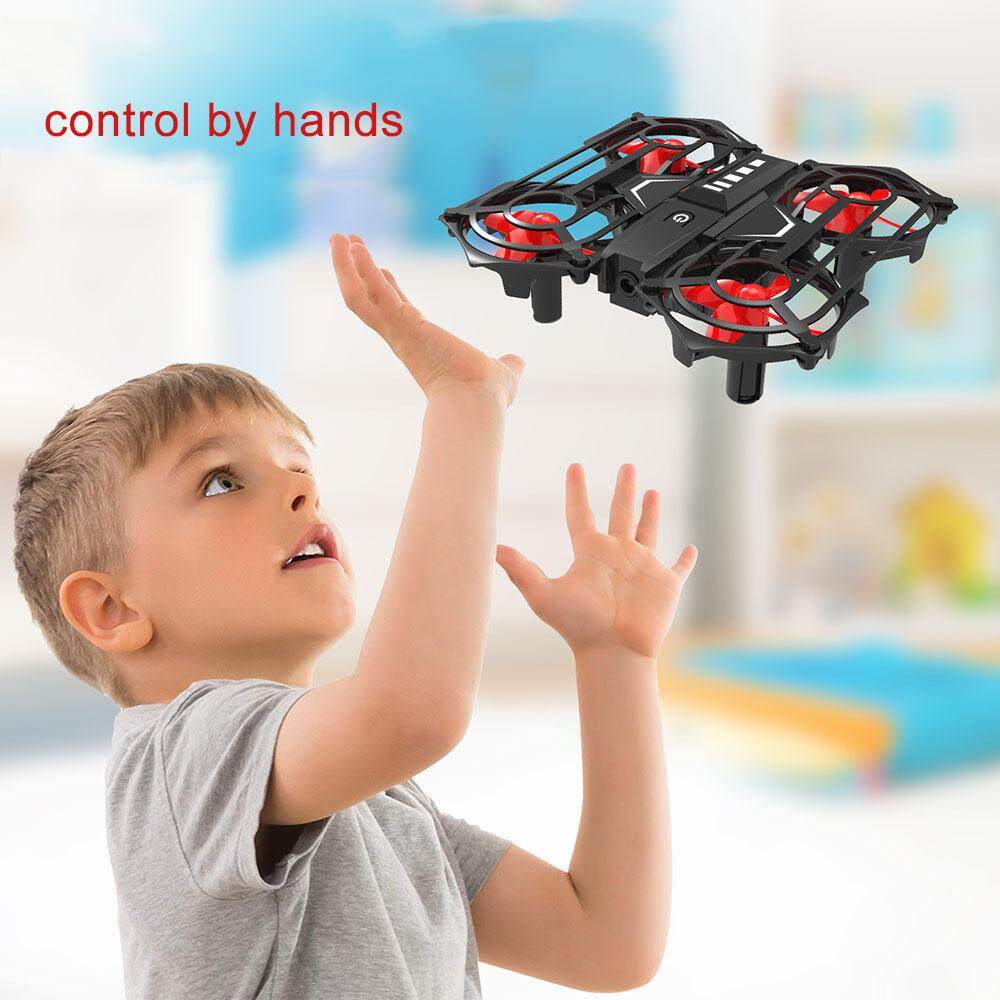 RH817 RC Quadcopter Gesture Sensing Quadcopter 2.4GHz RC Drone Height Hold Headless Mode 3D Flip Safe Enclosed Design RC Toy Gift for Kids
