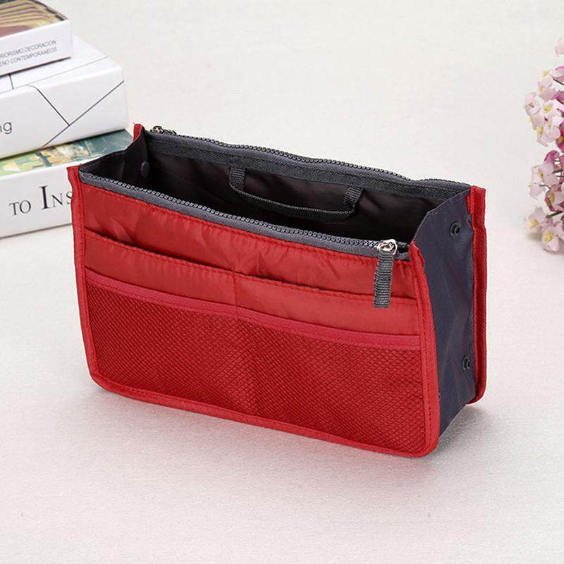 Blowing Women Organizer Handbag Travel Bag Purse Organiser Pouch Ladies Bag Red