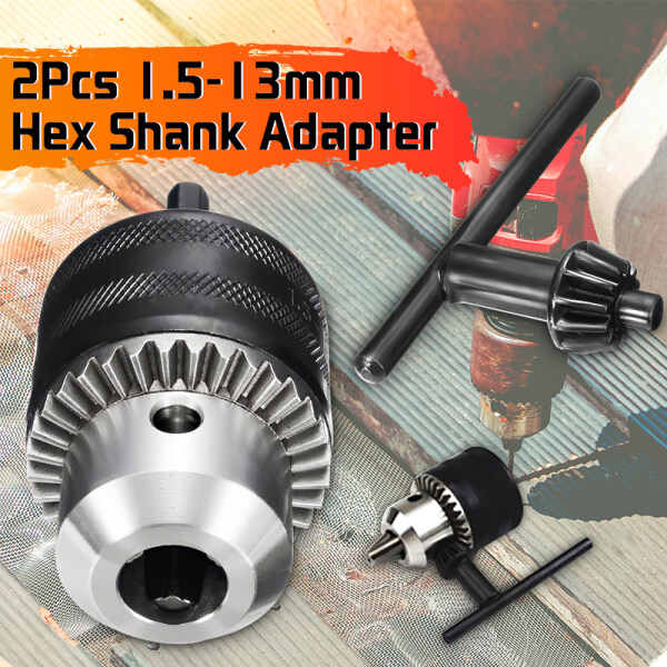 1.5-13mm Hex Shank Adapter 1/2inch -20UNF Hex Shank Driver Chuck Drill Bit Converter Plug Quick Change Clamp