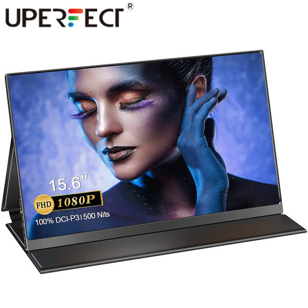 UPERFECT QLED Portable Monitor -  15.6 100% DCI-P3, 99% Adobe RGB, 500 Nits Brightness, FHD 1920x1080 IPS Screen, HDR Gaming Computer Display with USB C for Laptop, PC, MAC, Phone, PS4/3, Xbox, Switch Malaysia