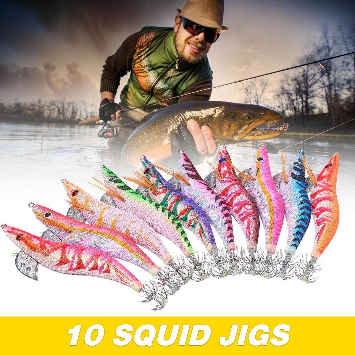 【free Shipping + Super Deal + Limited Offer】10 Squid Jigs Japanese Clothed Squid Lure Jig 3.5 My 10 Best Jigs For Squid New By Moonbeam.
