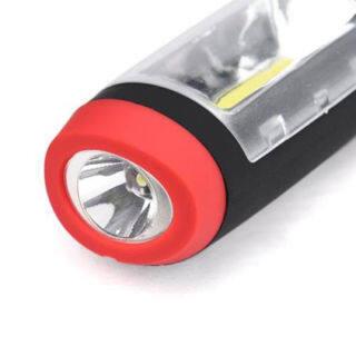 Đèn Pin COB Kiểm Tra Công Việc Tay 2 Trong 1, Đèn Từ, Ánh Sáng LED Hook Với Cắm Trại thumbnail