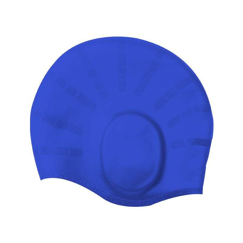 Fancytoy Elastic Silicone Lady Swimming Pool Cap Waterproof Women Long Hair  Adult Swim Hat with Ear a4cb7c4f73f8