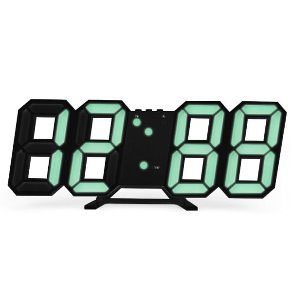 Hasacasa Đồng Hồ Báo Thức Đèn LED Sạc USB 3D Tự Động Điện Tử Cảm Ứng Đồng Hồ Kỹ Thuật Số Tường Horloge Trang Trí Nội Thất Bảng Văn Phòng Đồng Hồ Để Bàn bán chạy