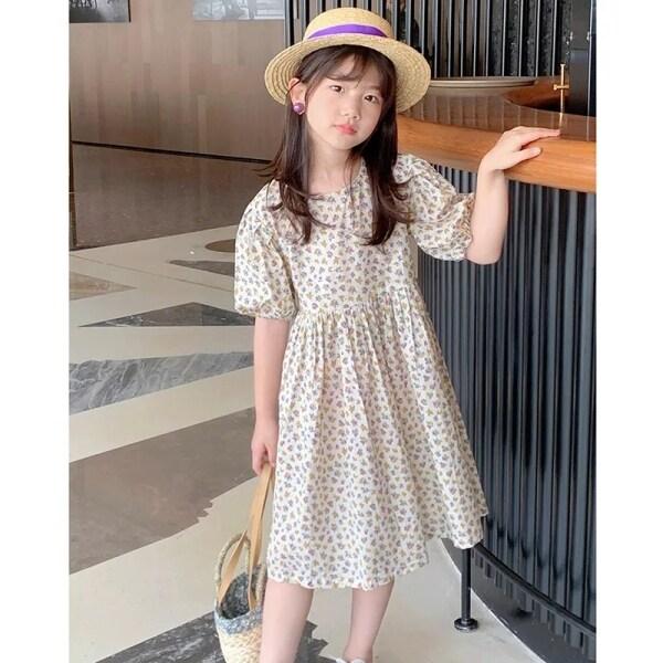Nơi bán Cô Gái Ăn Mặc Mặc Mùa Hè Váy Hoa Hư Hỏng Cho Trẻ Em 2021 Mới, Váy Công Chúa Trẻ Em Cuhk Vành Cotton Nguyên Chất