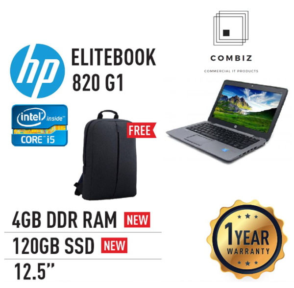 HP Elitebook 820 G1 - 12.5 / Core I5 / I7-4th Laptop (Refurbished) Malaysia
