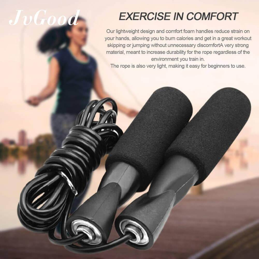 JvGood Jump Rope Skipping Ropes for Boxing MMA Fitness Training Exercise Workout Speed Skip Training Athletic
