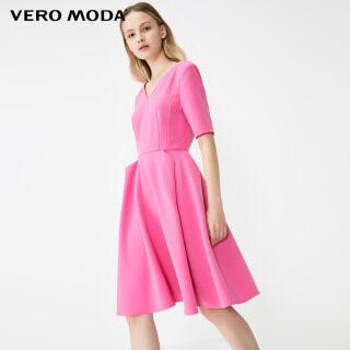 Vero Moda Đầm Nữ Tay Ngắn Cổ Chữ V Màu Trơn, 32026Z503 thumbnail
