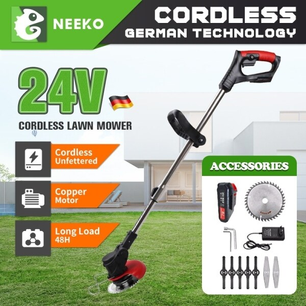 Mesin pemotong rumput 36V Wireless Lithium Battery Lawn Mower Cordless Small Grass Trimmer Electric Mower Grass Cutter