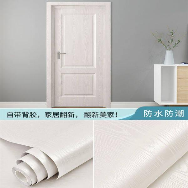 Stiker Pelekat Diri Pelekat Pintu Hiasan Kalis Air Dinding Kabinet Pintu Perabot Pintu Kayu Lama Diperbaharui Kertas Dinding Kelembapan Keseluruhan