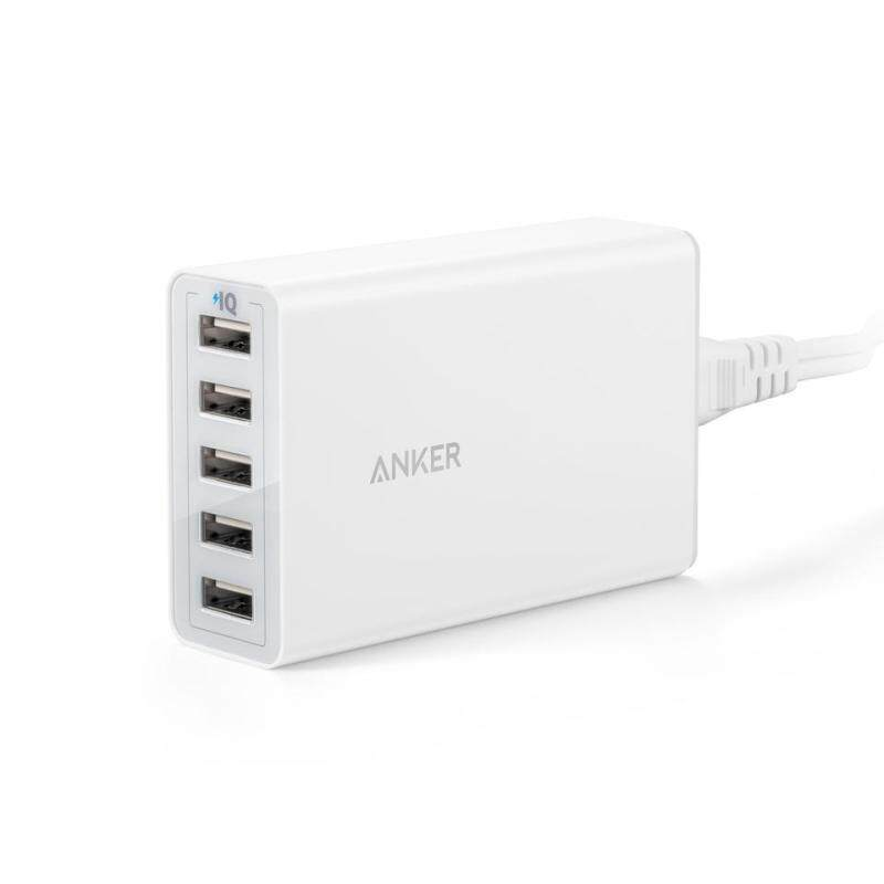 Anker A2314 PowerPort5 Lite USB Universal Charger 25W 5 Port Charging Device 5V/5A Output Cargador USB for Phone Tablet